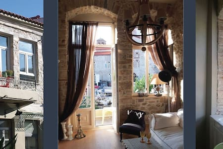 Stonebuilt boutique apartment - Kymi - House