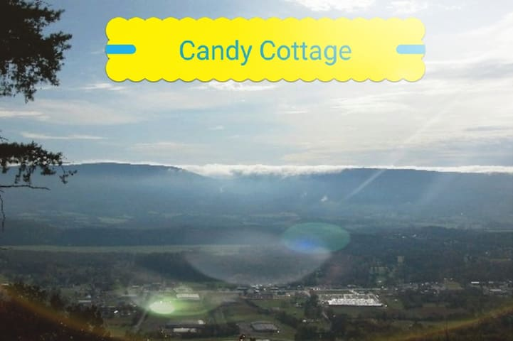 """ABOVE THE CLOUDS BED & BREAKFAST: """"CANDY COTTAGE."""""""