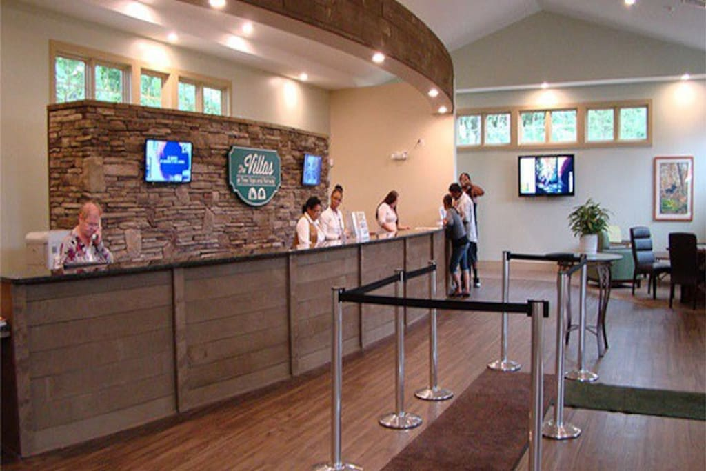 Inside Check In Center For Tree Tops And Fairway Villas.