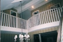 Loft View of Upstairs With Twin Beds.
