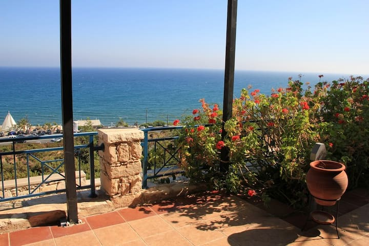 Incredible SEA VIEW villa minutes from the beach - Germasogeia