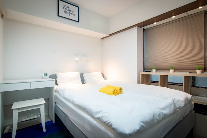 Lovely Simple Private Double Bed Room/Free WiFi