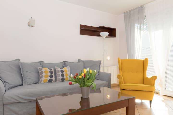165 Apartament Comfort 2 z 1 sypialnią i ogrodem