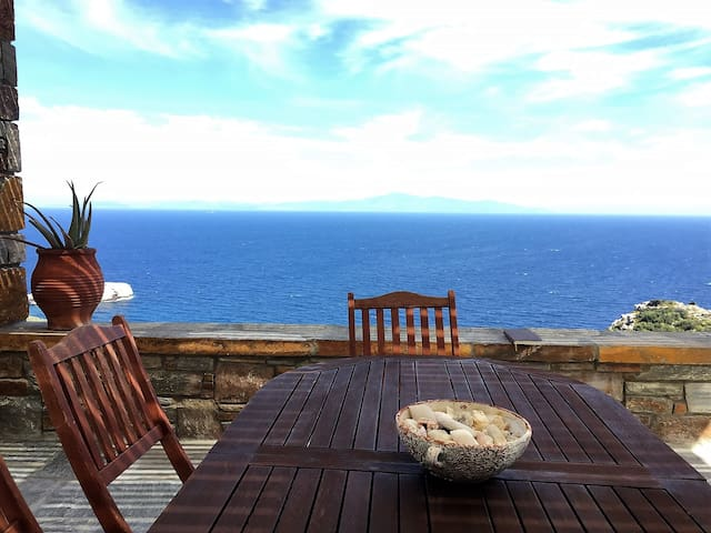 Aegean Blue Sea Views-Family friendly House 3bdrms - Kéa - Dom