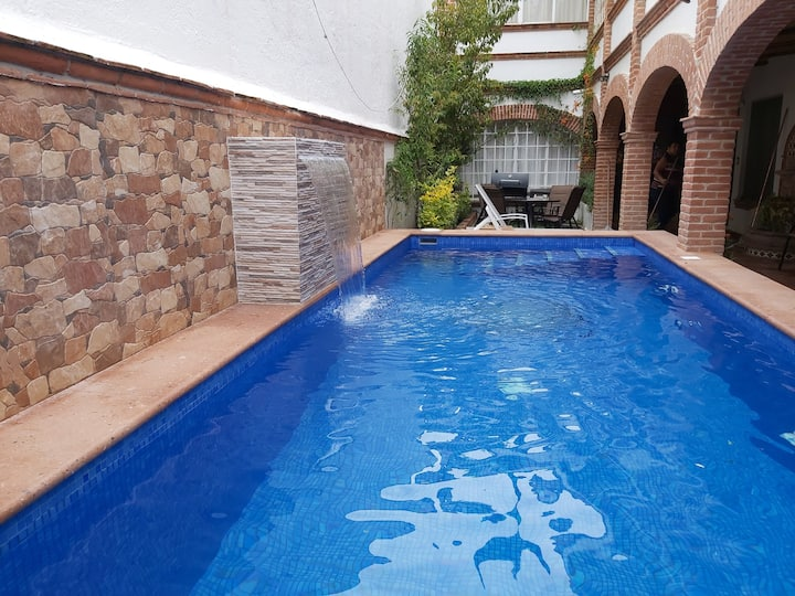 Casa con piscina privada en Tequisquiapan
