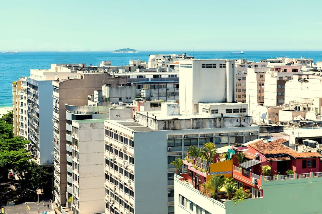 The Penthouse just 2 short blocks the the world famous Copacabana Beach.