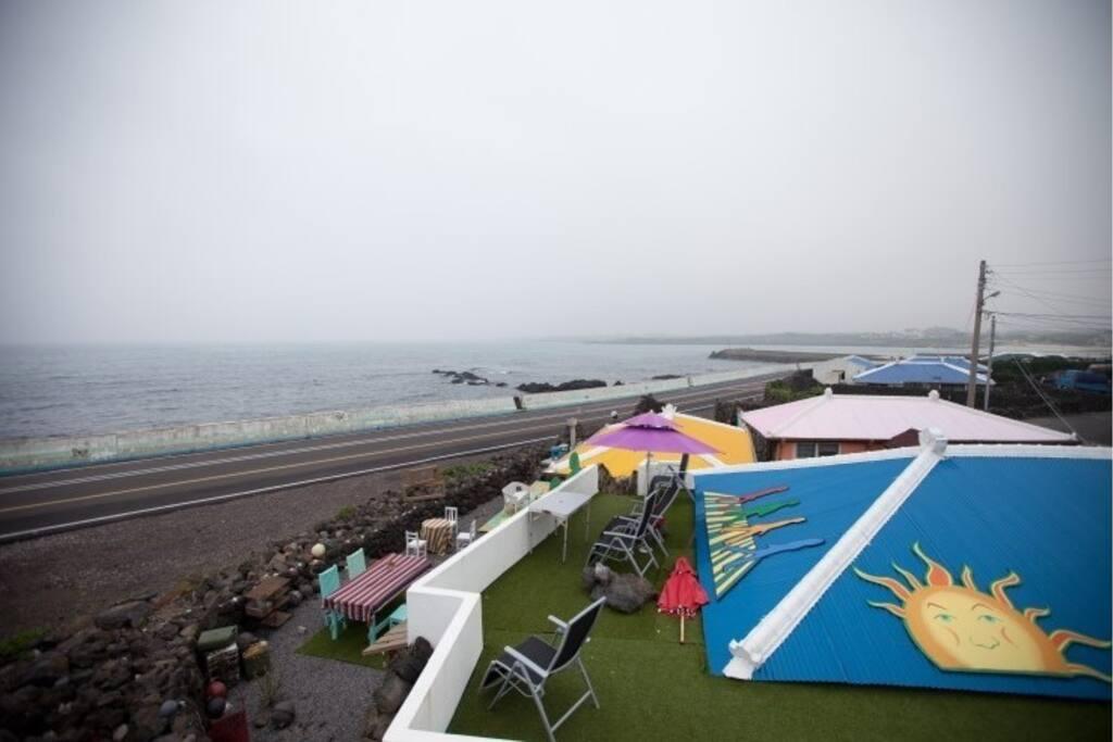 월정리 바다 전망이 좋은 옥상