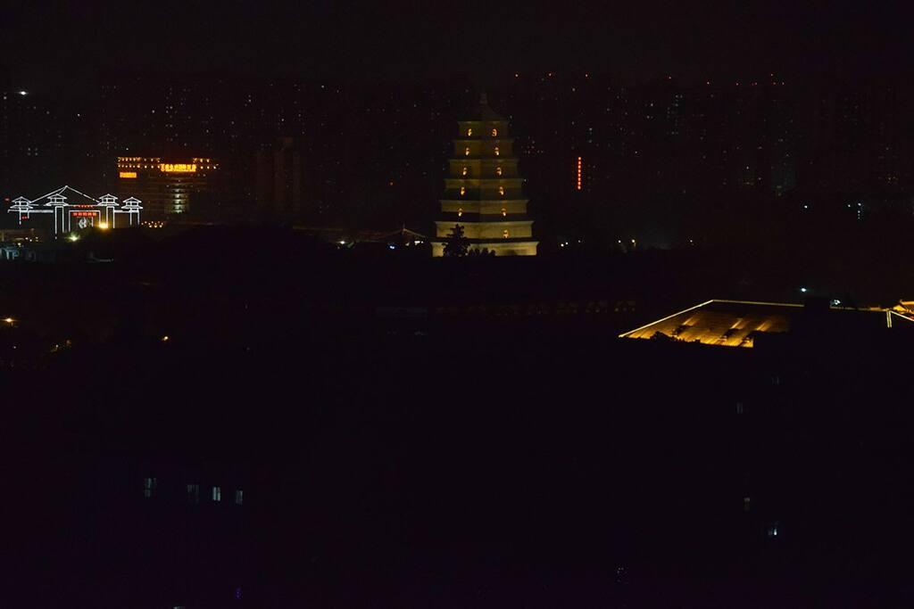 从阳台直接就可以看到古长安的大雁塔