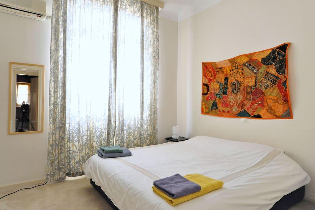 master bedroom, super-king size bed (180cm width)