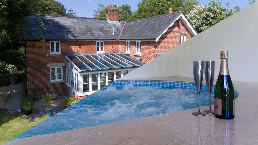 Cottage with indoor swim spa in the New Forest