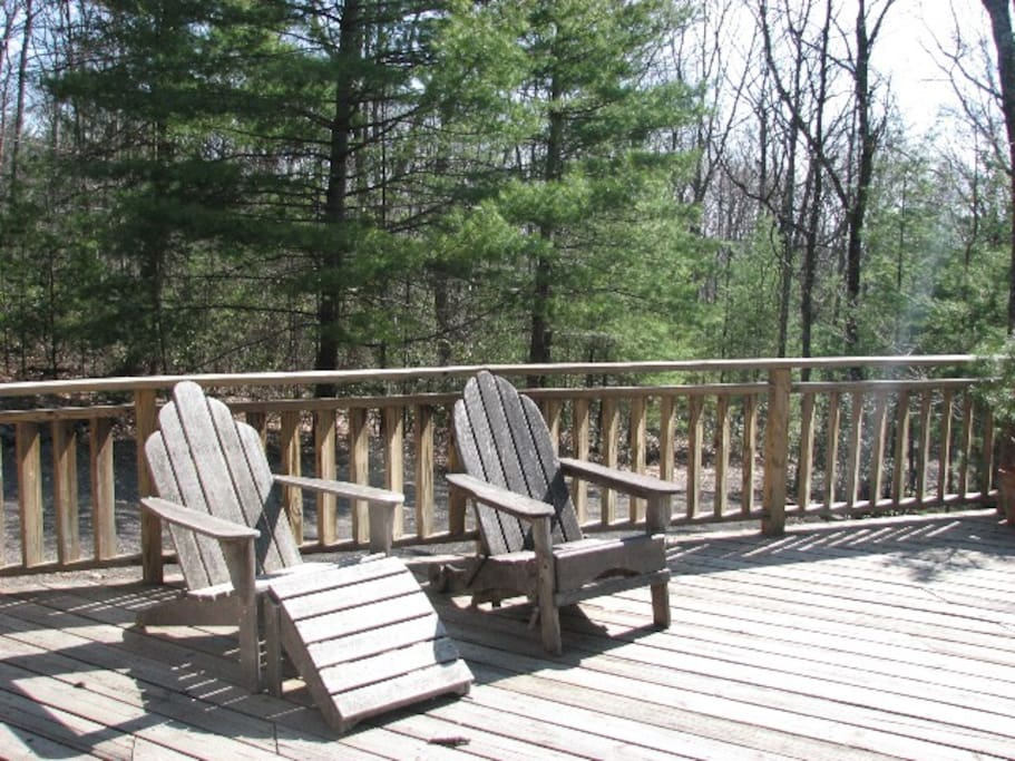 Loungers on the deck