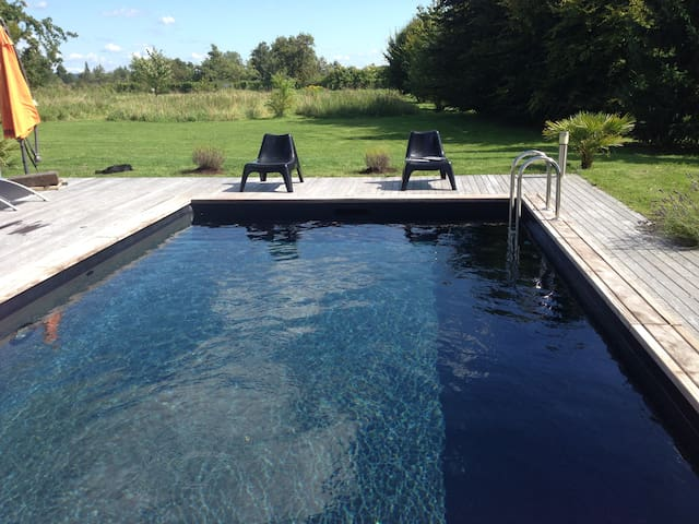 Maison de charme avec piscine - Saint-Martin-aux-Chartrains - Dům