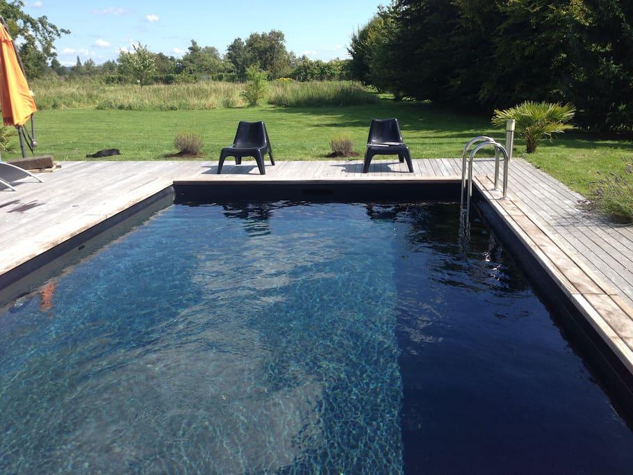 Maison de charme avec piscine priv e huizen te huur in for Camping basse normandie avec piscine