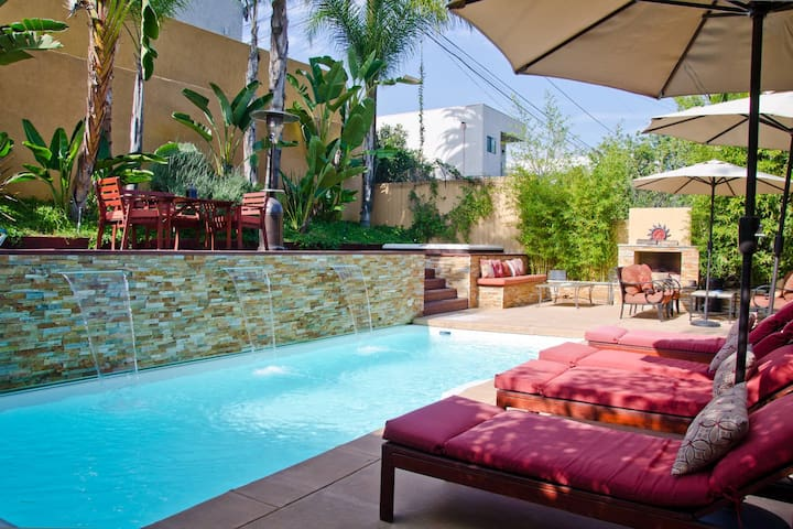 Los Feliz Oasis Flat, with Pool and Spa - Los Angeles - Dům pro hosty