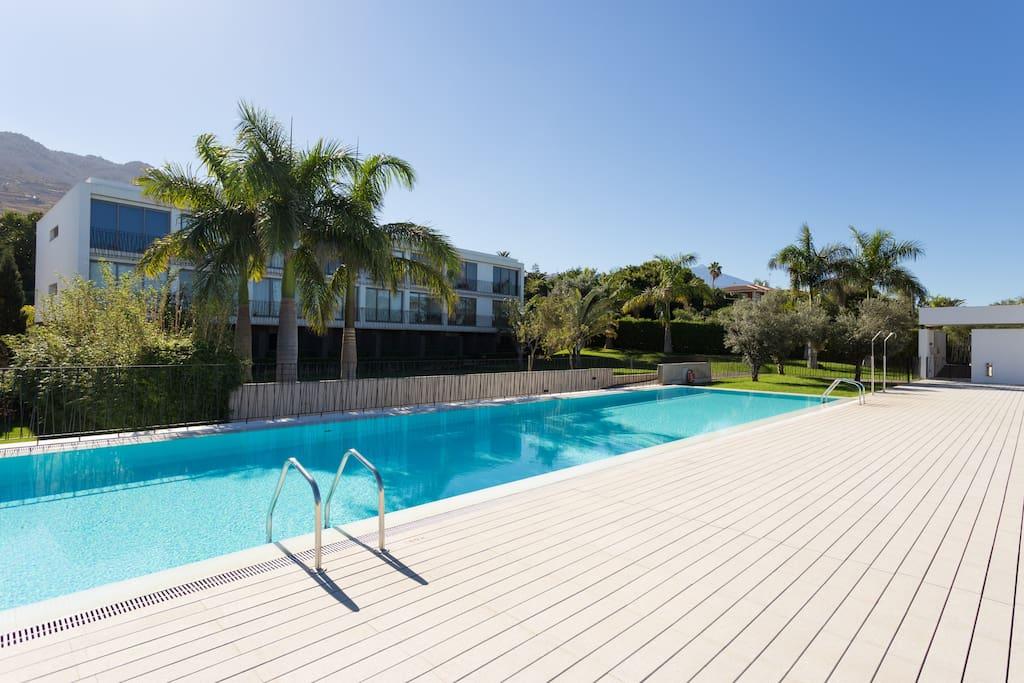 Vista al mar piscina y jardin la quinta bikes for Piscina la ballena tenerife