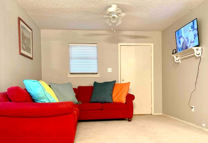 Living area - large comfy sectional - great place to catch a nap!