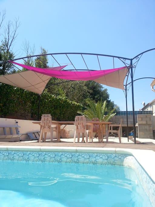 Villa climatis e piscine pr s canet en roussillon for Piscine de canet