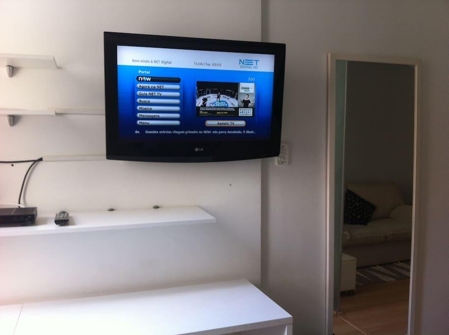 TV LDC com Net/TV e inernet wi fi.