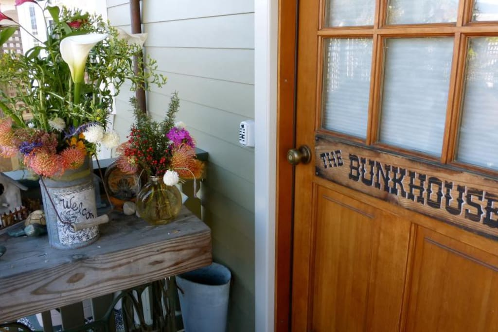 Flowers bloom all year at the bunkhouse