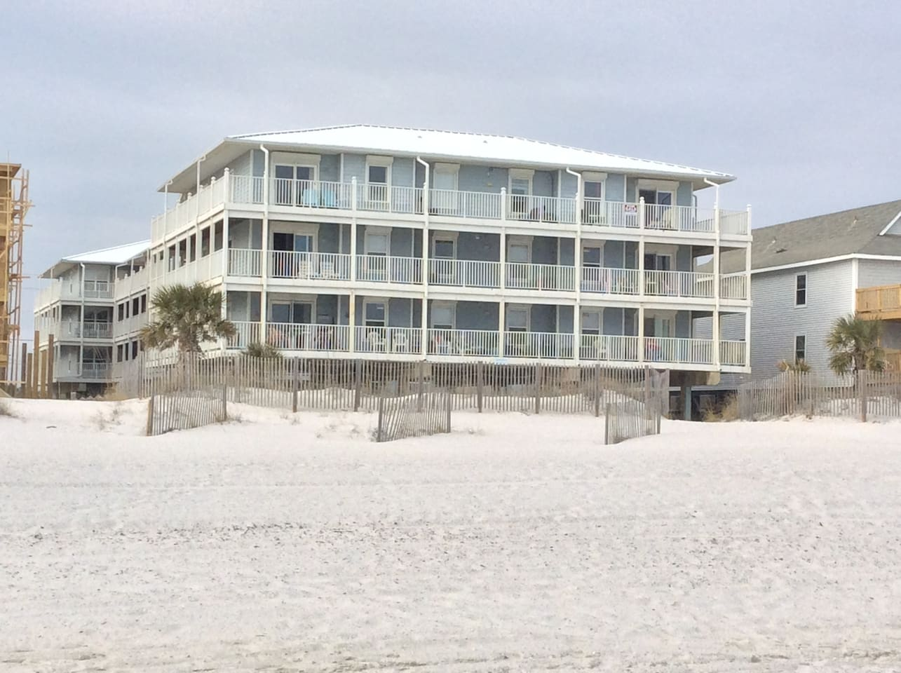 View from of complex from beach.  My unit is a first floor side unit.