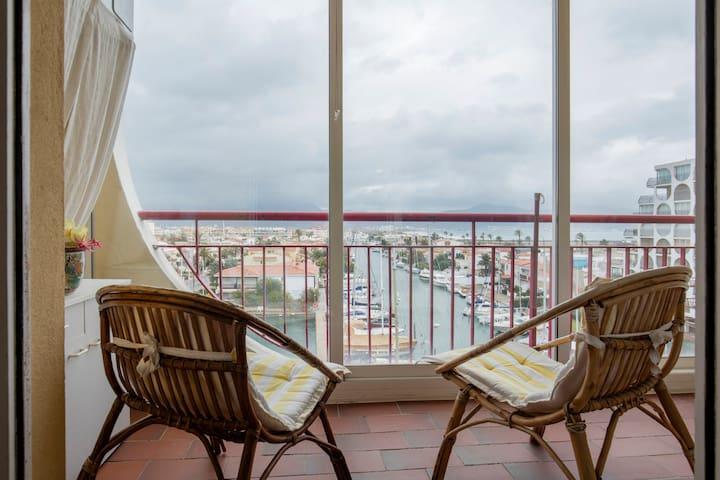 Apartment in Empuriabrava with sea view - Empuriabrava - Daire