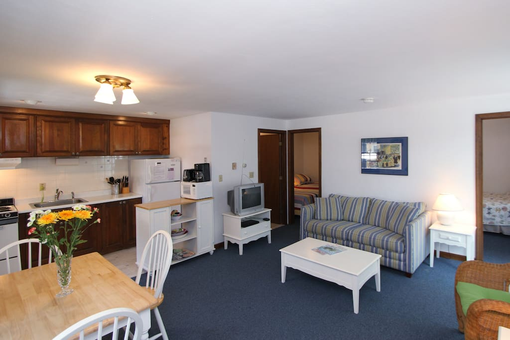 Comfy and open living/kitchen/dining space - each of the 4 units have their own!