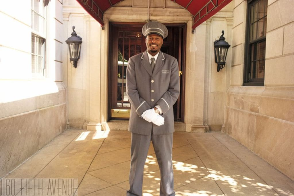 Our doorman!