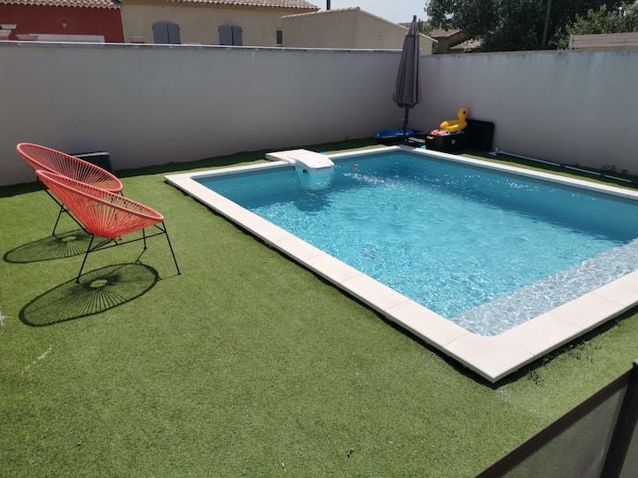 Villa au calme avec piscine privative