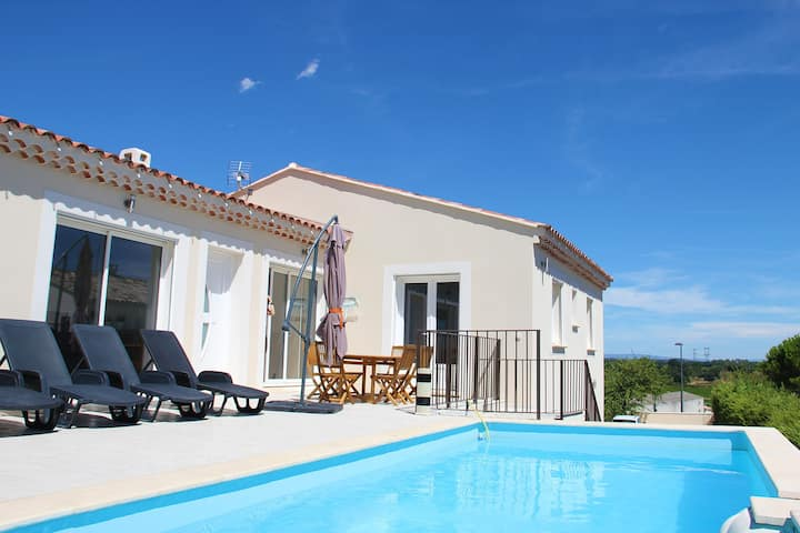 Maison moderne 8 places avec piscine panoramique