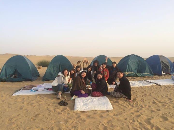 Non touristic Camel Safari in Lakhmana Desert