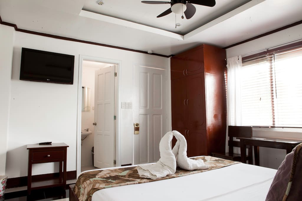 Cable TV, a clean bathroom and an air-conditioned room are one of the many amenities that will make your trip a memorable one.