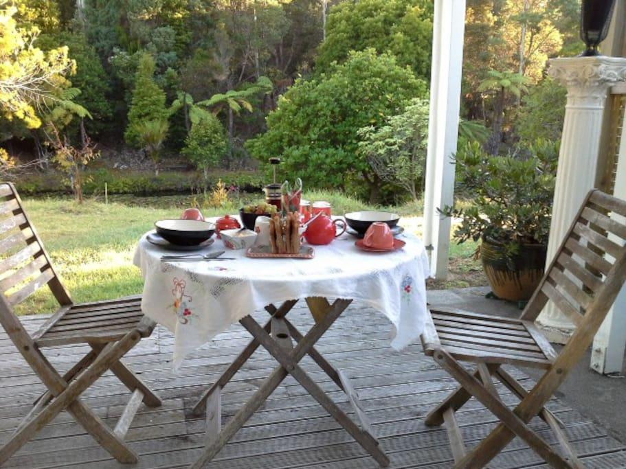 Enjoy the fresh air while you eat