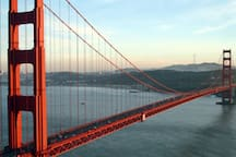 muni and rideshare apps make tourist sites like the Golden Gate Bridge easily accessible