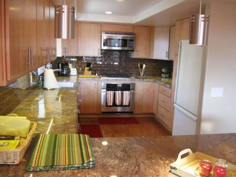 Completely Equipped Kitchen Designed for Entertainment