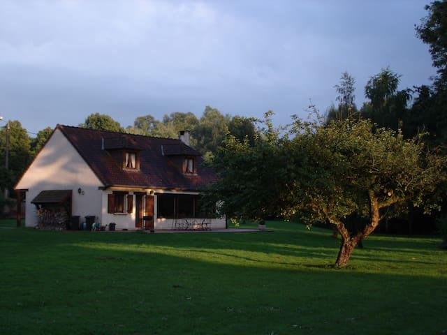 Maison de campagne au paradis, avec étang privatif