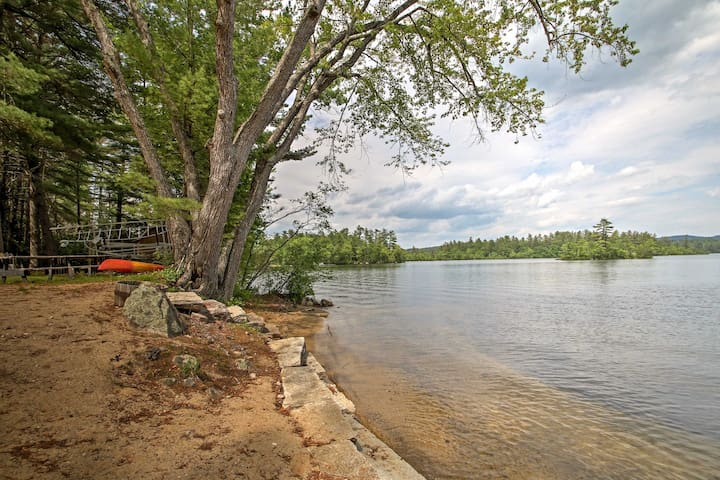 Waterfront Kezar Lake Home w/ Sandy Beach & Dock!