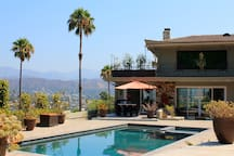 Relax, unwind and enjoy the beautiful LA weather as you take in the view from The Pool House.