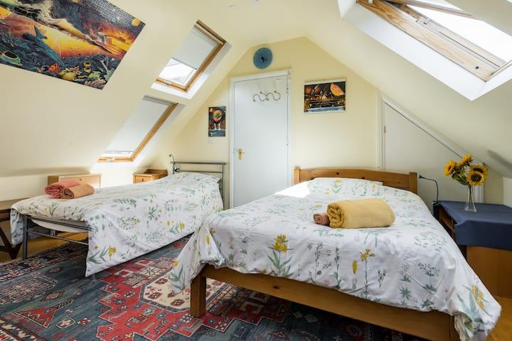 Lovely attic room in London