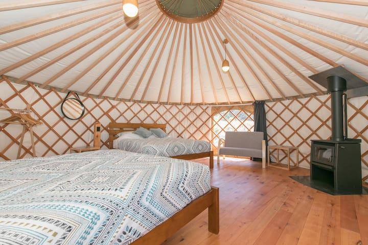 Tawhai |Luxury Yurt Living | Double Queen Yurt Experience