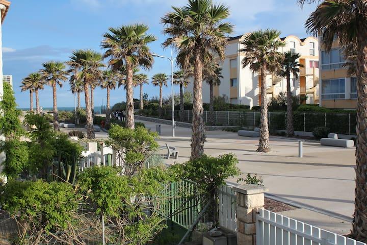 Avenue de la Méditerranée en bord de mer - Marseillan