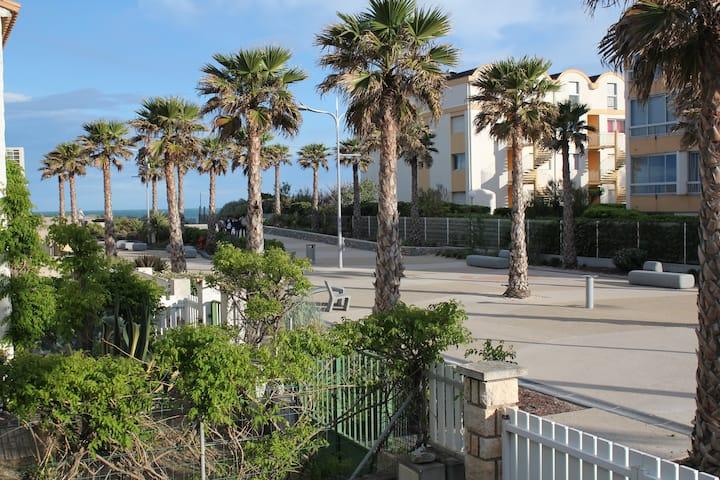 Avenue de la Méditerranée en bord de mer
