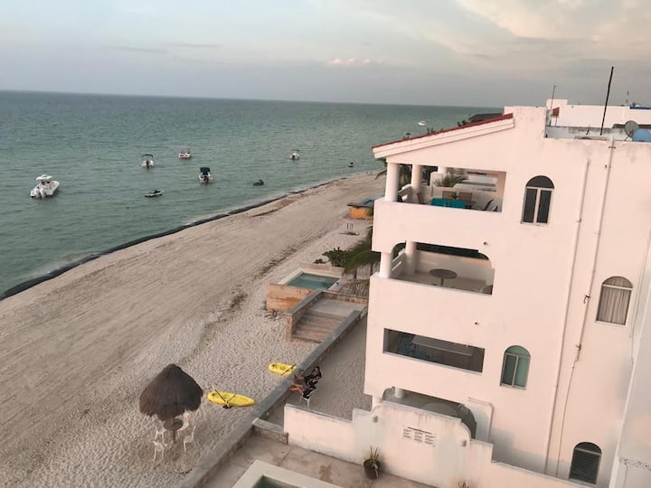 Beach front apartment in Chicxulub, Yuc., Mexico