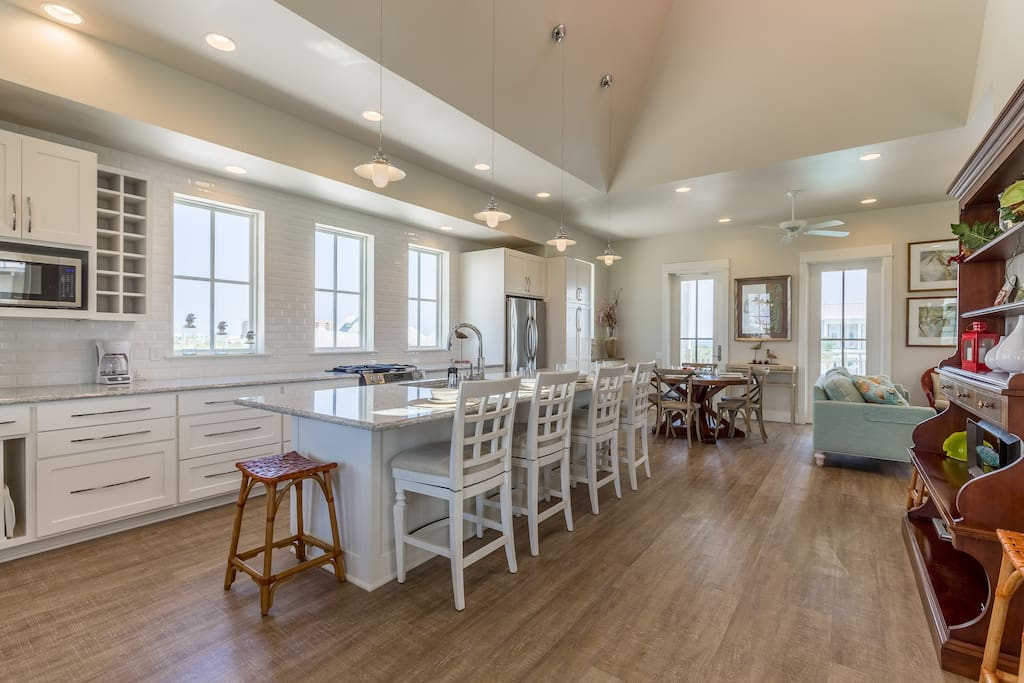 Huge Kitchen fully equipped with everything to prepare a great meal!  Perfect for entertaining a large group!