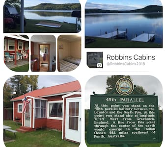 Scenic Waterfront Cabins Located on Back Lake