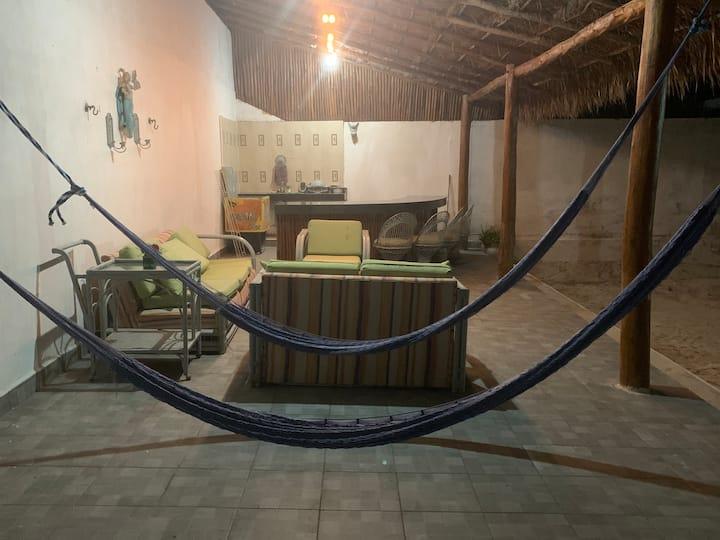 Casa Relajante en la playa, a 2min del mar.
