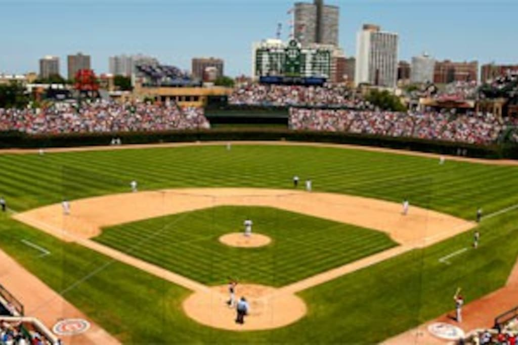 8 minute walk to Wrigley Field - it'll be a great season for the Cubs!