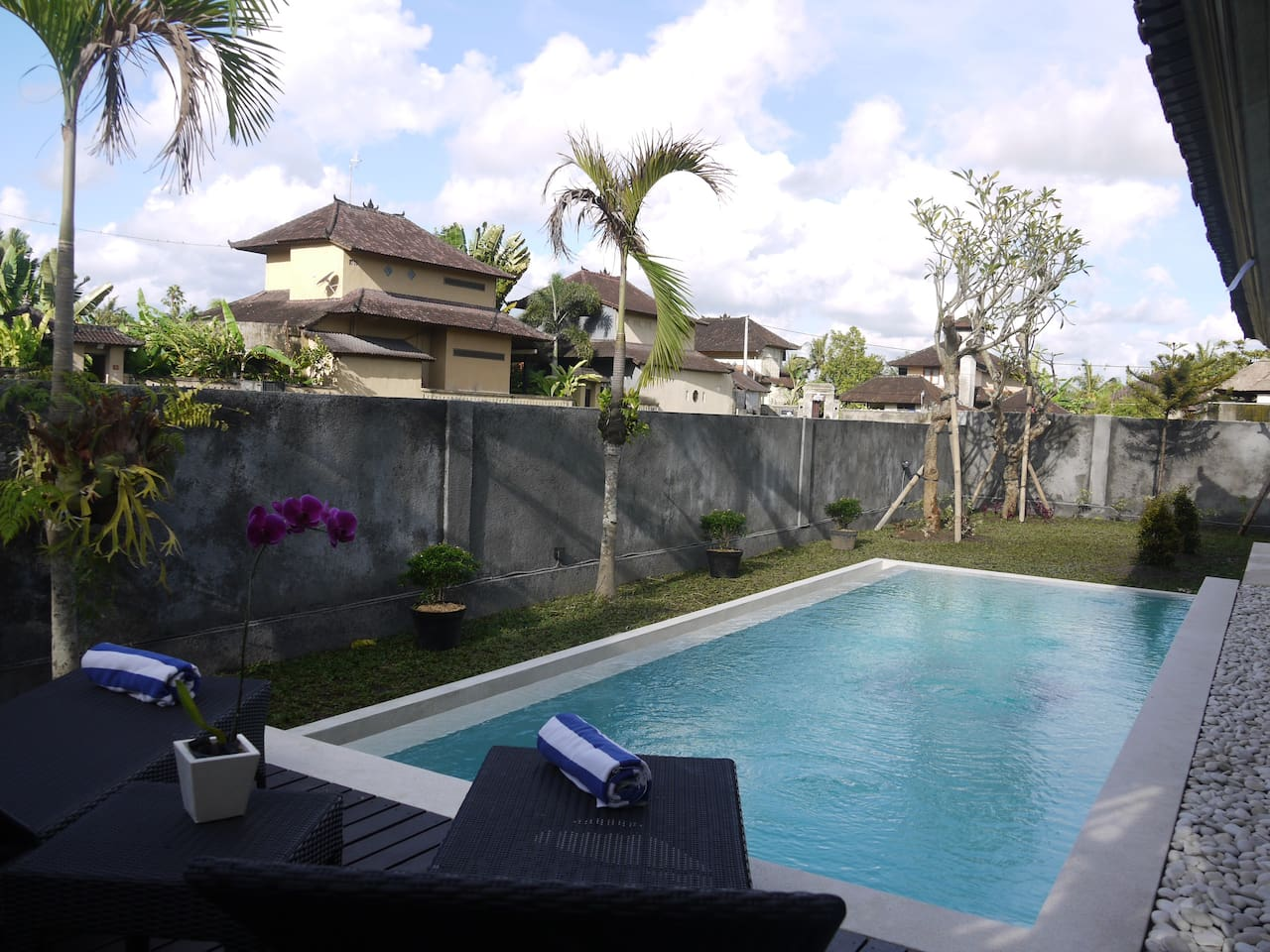 Your private pool facing the garden