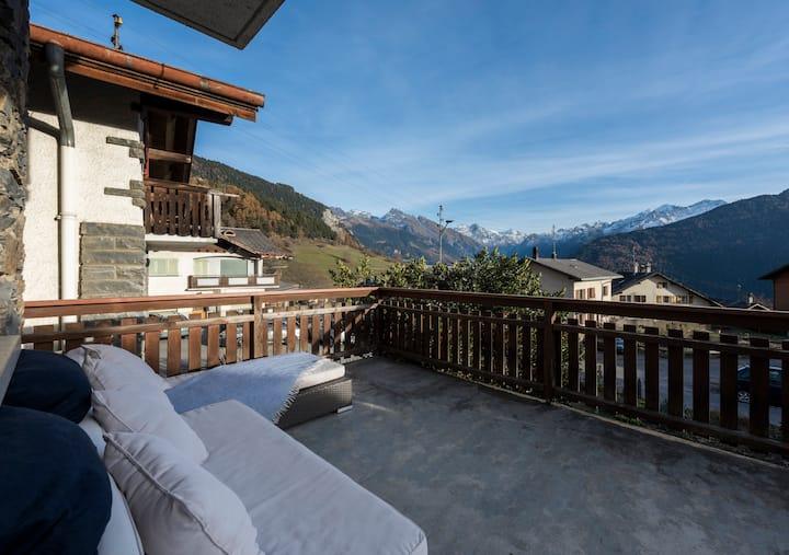 2 bedroom chalet in the Swiss alps