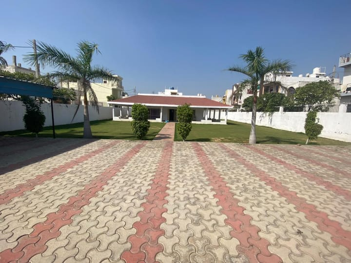 """Lovely 2BHK Farmhouse- Private Parties with Roof"""