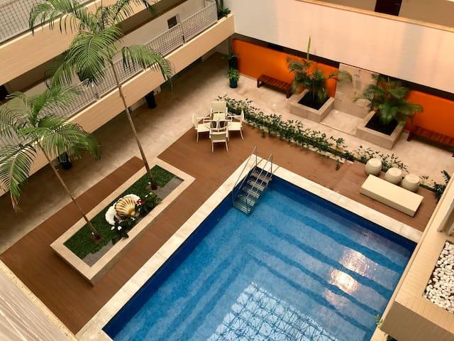Apt 2 quartos na MELHOR localização da cidade